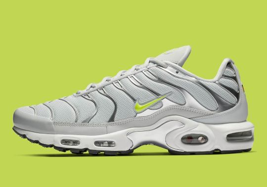 Nike Air Max Plus Arrives In Light Grey And Volt