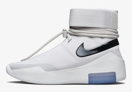 Official Images Of The Nike Air Fear Of God Shoot Around In Light Bone