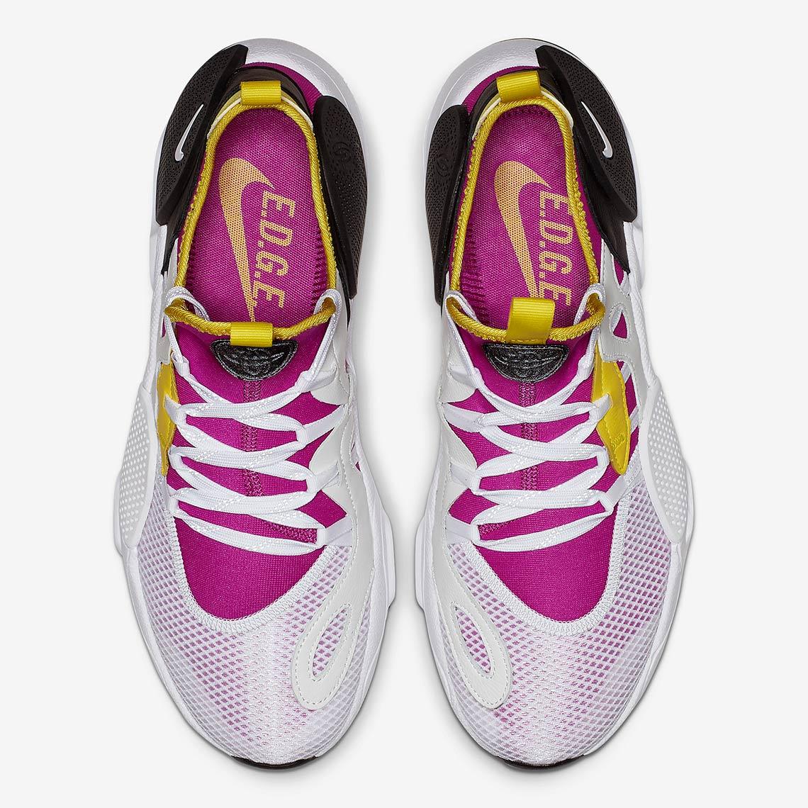 Nike Air Huarache Edge TXT Release Date January 1, 2019 (China) $110.  Color Magenta/Neon Yellow/Black/White