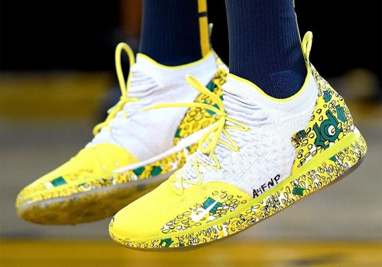 "Kevin Durant Wears Nike KD 11 ""Scrooge McDuck"" PE For Christmas"