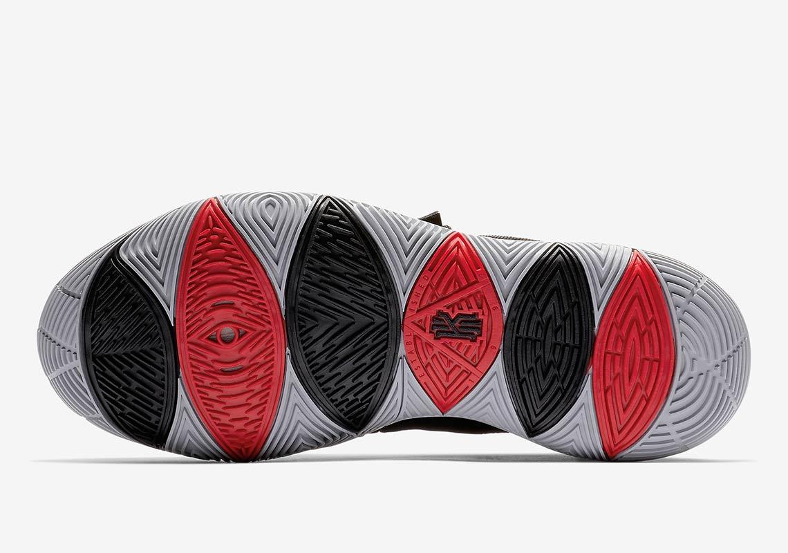 kyrie 5 black red
