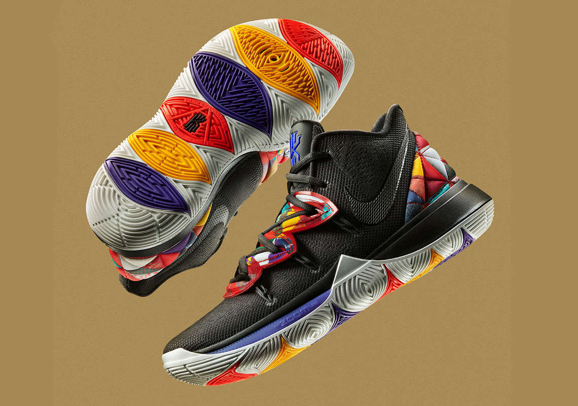 half off 969a1 0030c ... official the nike kyrie 5 chinese new year features traditional bai jia  yi patterns 3e8f7 d54bf