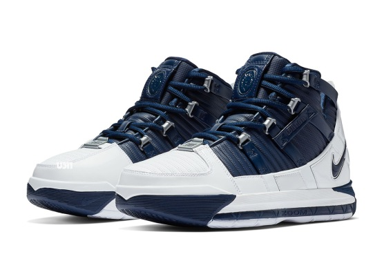 The Nike Zoom LeBron 3 Returns In An OG Navy And Silver Colorway
