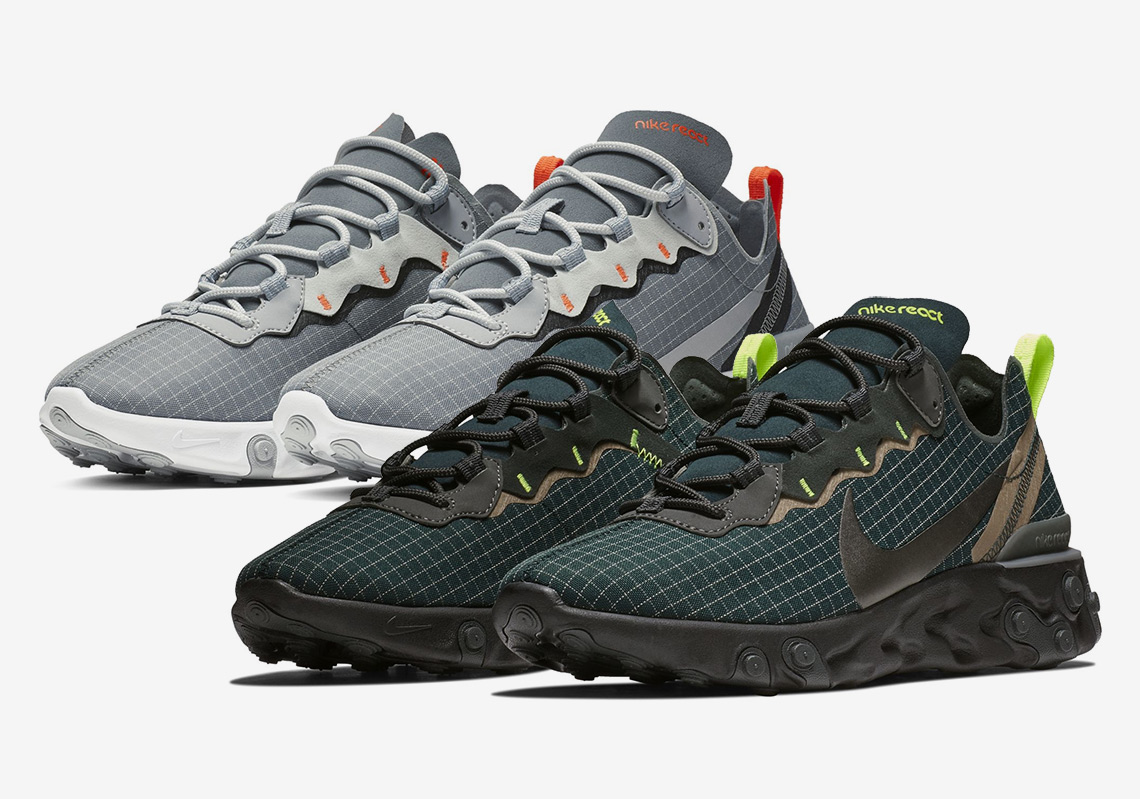 The Nike React Element 55 Appears In More Nylon Grid Uppers 01fb510010