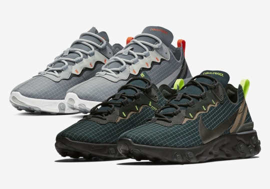 The Nike React Element 55 Appears In More Nylon Grid Uppers