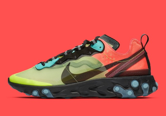 The Nike React Element 87 Pairs Volt And Racer Pink