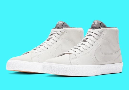 The Nike SB Blazer Mid Is Back In A Crisp Light Grey