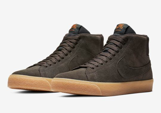 The Nike SB Blazer Mid Appears In Brown Suede And Gum Soles