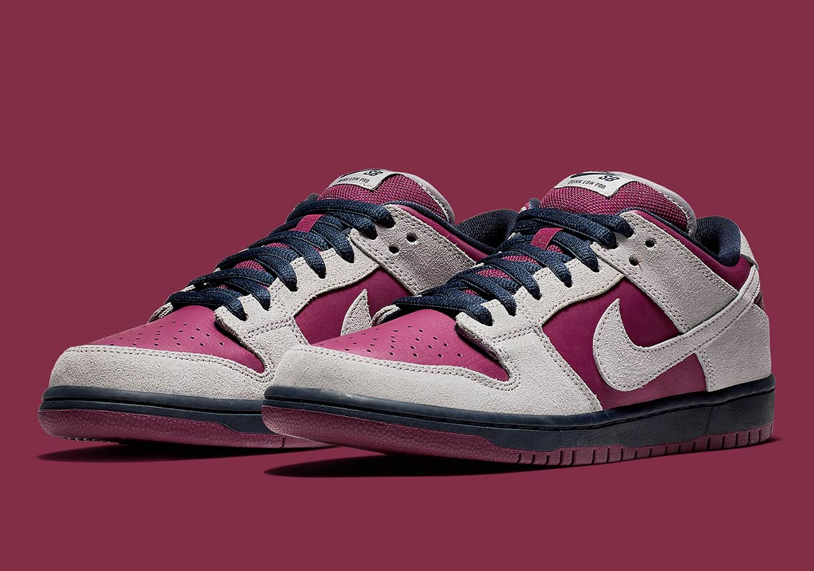 8f5fbb5b37ef The Nike SB Dunk Low Arrives In True Berry And Atmosphere Grey