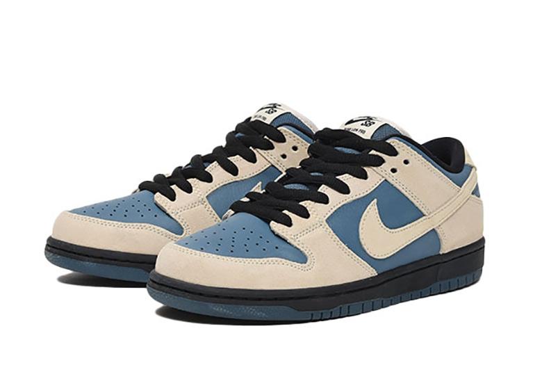 more photos 57c38 e6ca9 Nike SB Dunk Low Pro Cream/Blue Release Info | SneakerNews.com