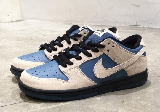 The Nike SB Dunk Low Pro Returns In Cream And Blue