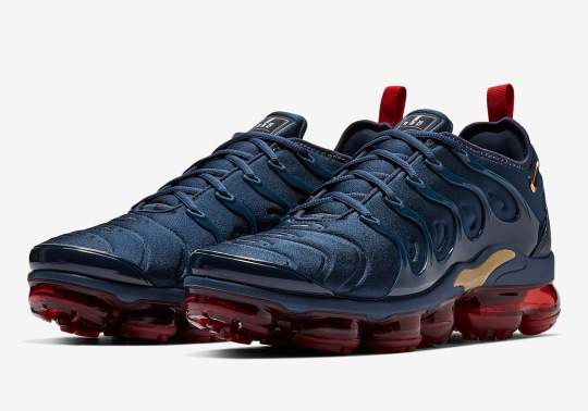 "Nike Channels The OG ""Olympic"" Colorway Onto The Vapormax Plus"