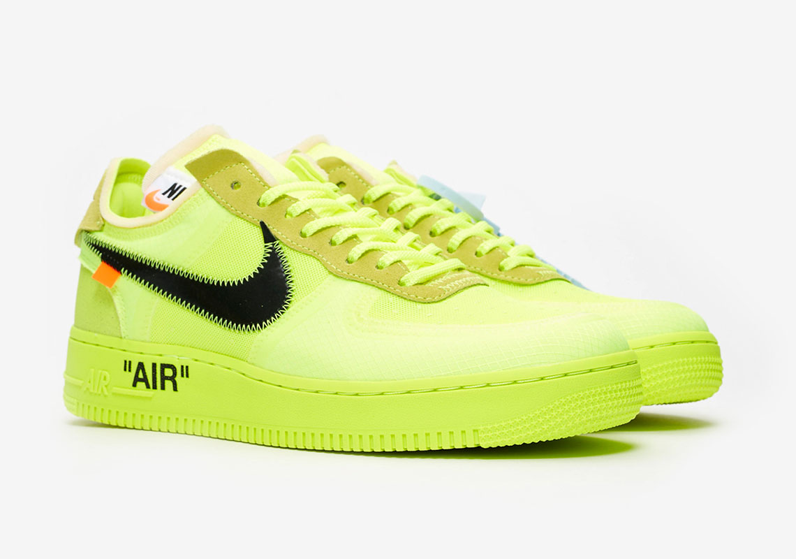 78d68318c2 Off-White Nike Air Force 1 Volt Store List | SneakerNews.com