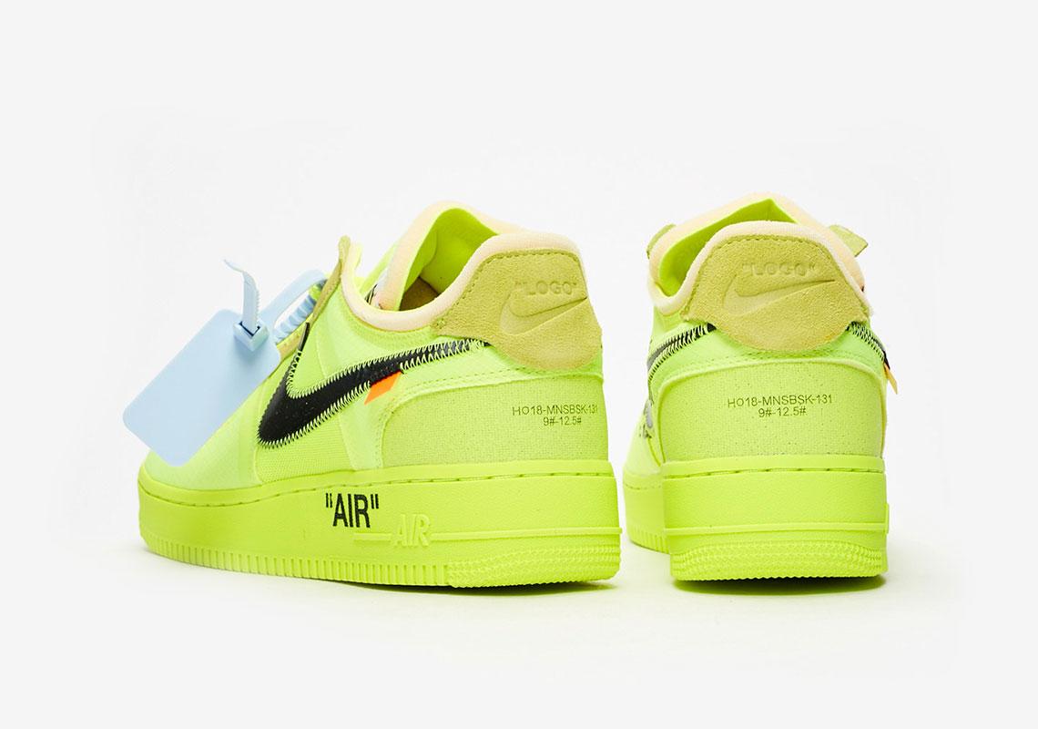 designer fashion 0b822 efa31 Off-White Nike Air Force 1 Volt Store List   SneakerNews.com