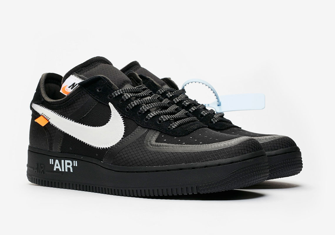 exclusive shoes the latest new high Off-White Nike Air Force 1 Black Store List   SneakerNews.com