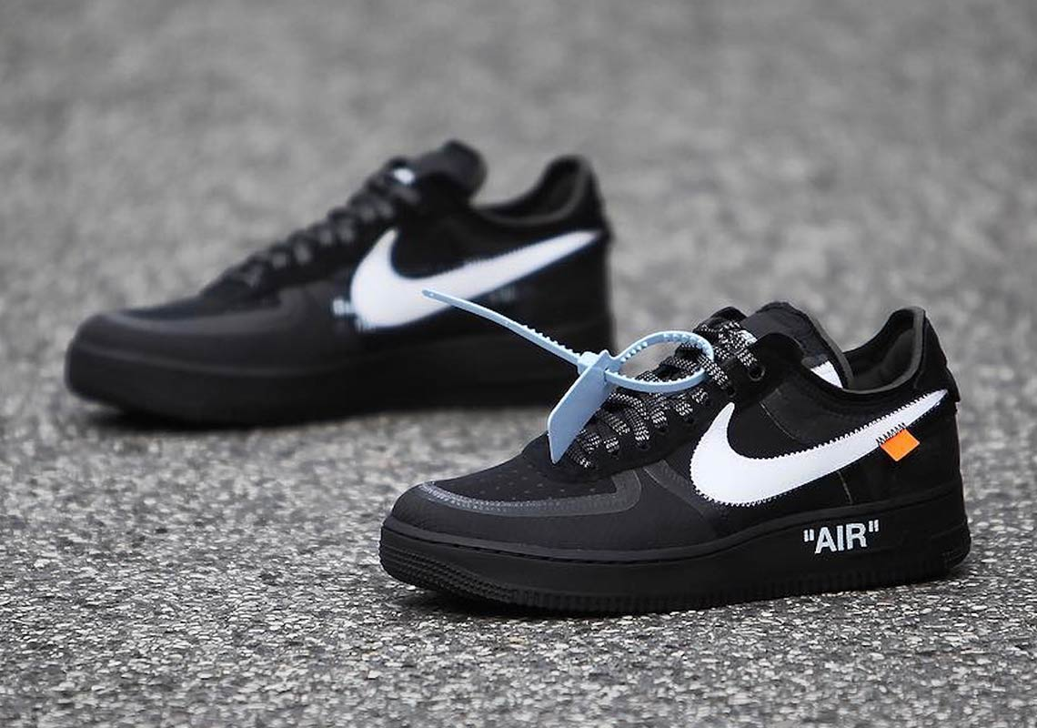 ee3c04d8ac82 Off White Nike Air Force 1 Low Black + Volt Info
