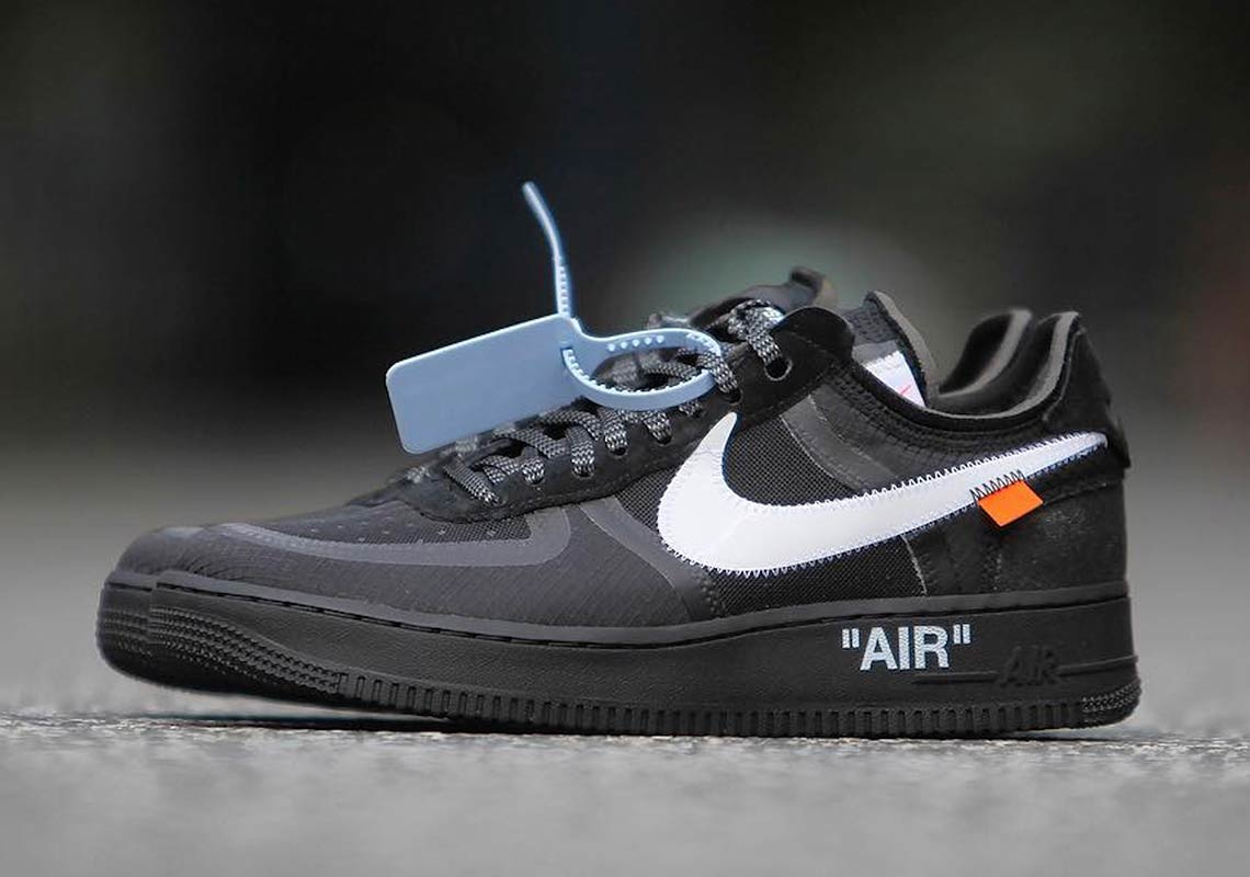0397f0b1a88f Off White Nike Air Force 1 Low Black + Volt Info