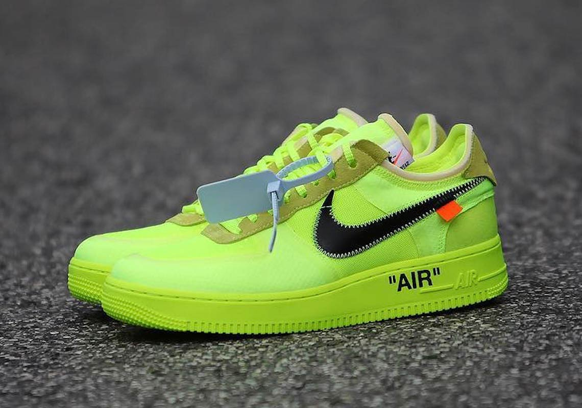 air force 1 per off white fluo
