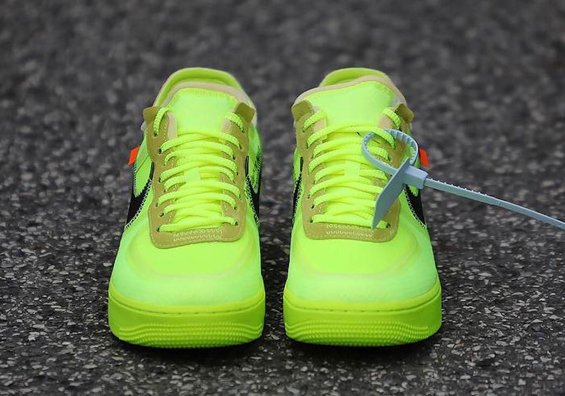 bright yellow off white air force 1