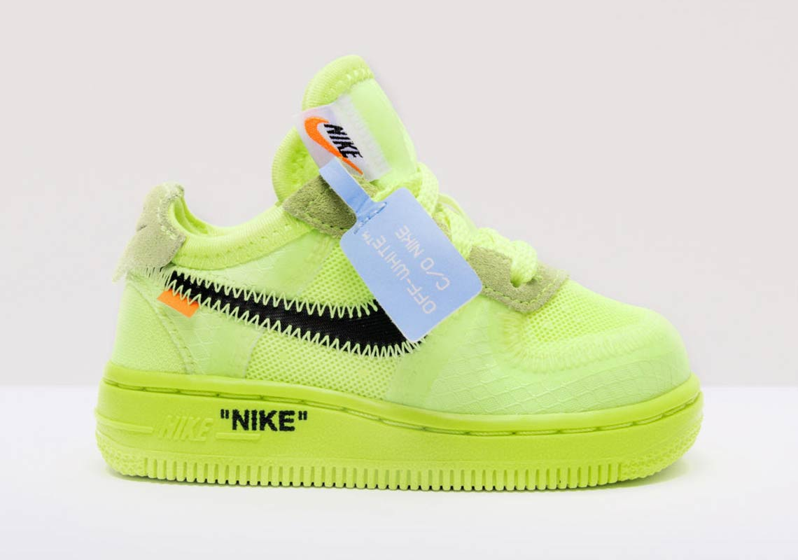 great deals 2017 recognized brands hot products Off White Nike Air Force 1 Low Kids Black + Volt ...