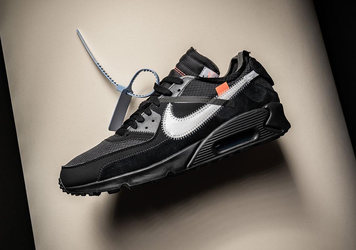 Off White Nike Air Max 90 Black White Aa7293 001 Sneakernews Com