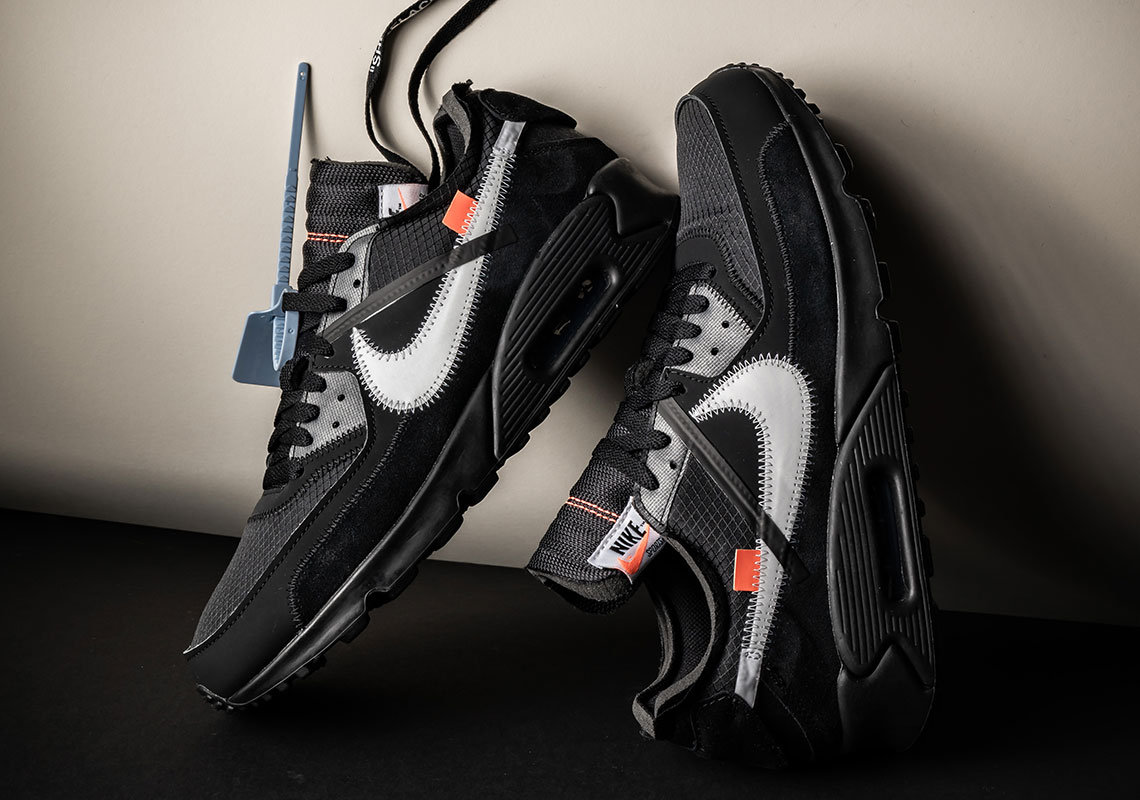 finest selection e81ea 0a965 Off White Nike Air Max 90 Black + White AA7293-001   SneakerNews.com
