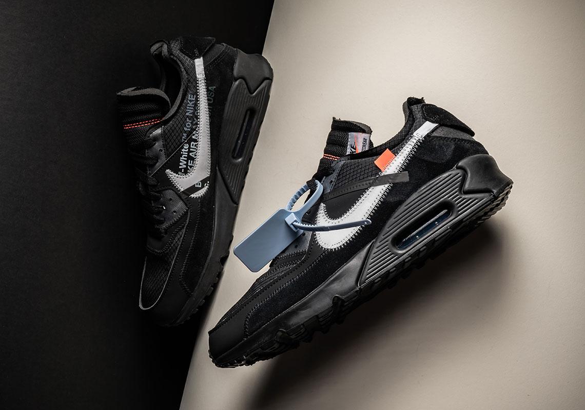 Off White Nike Air Max 90 Black + White