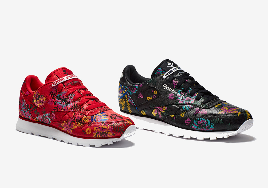 finest selection 97712 83b85 Opening Ceremony Adds Floral Satin Jacquard Prints To The Reebok Classic  Leather