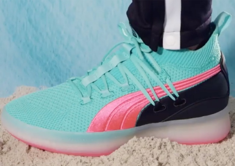 ff1005efbeb Puma Brings A Summery Ocean Drive Colorway To The Clyde Court Disrupt