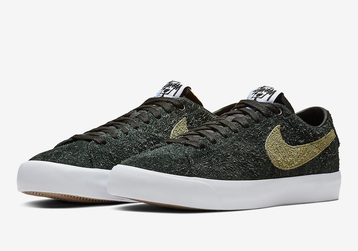 Stussy Nike Sb Blazer Low Bq6449 001 Sneakernews Com