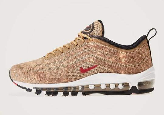 """Where To Buy The Nike Air Max 97 Swarovski """"Metallic Gold"""""""