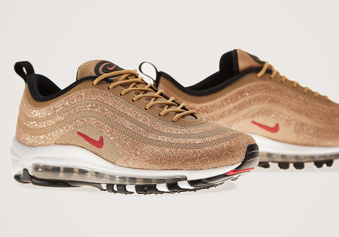 Swarovski Nike Air Max 97 Metallic Gold Store List  ce2b360ba