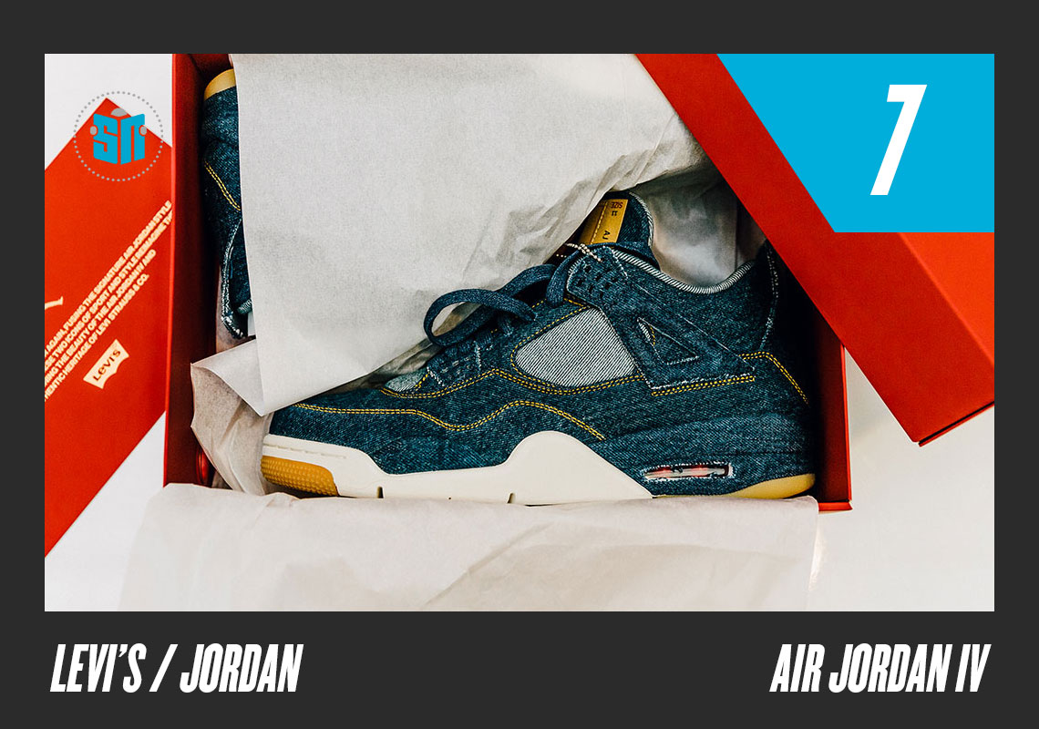 30611f985d4 Levi's x Air Jordan 4 This pairing of two American industry giants produced  a denim-uppered Air Jordan 4 in three distinct colors true to the jeans  brand, ...