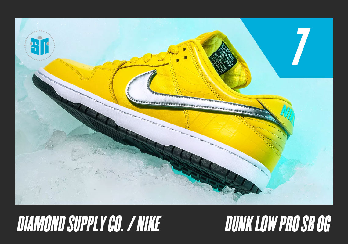 "649934a7ce69 Diamond Supply Co. x Nike SB Dunk Low ""Canary"" The unexpected comeback of  the SB Dunk was spelled by the LA-based skate street purveyor as brand  founder ..."
