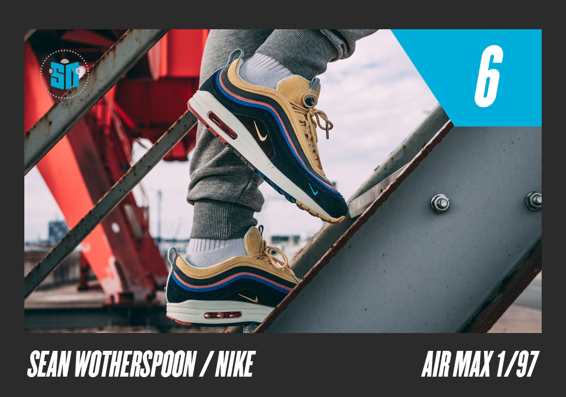 huge discount d4ffa 3b8f8 Sean Wotherspoon x Nike Air Max 1 97 While technically releasing in late  2017, this concoction by the Round Two second-hand store founder was one of  the ...