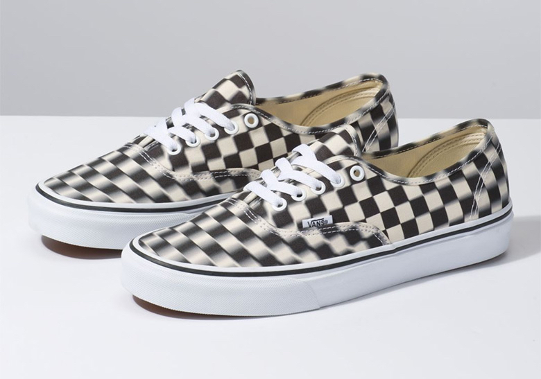b6df7c60d9 Vans Blur Checkerboard Authentic Shoes Release Info