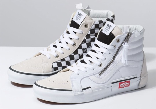 "The Vans Sk8 Hi Re-issue ""Deconstructed"" Returns In White And Black"