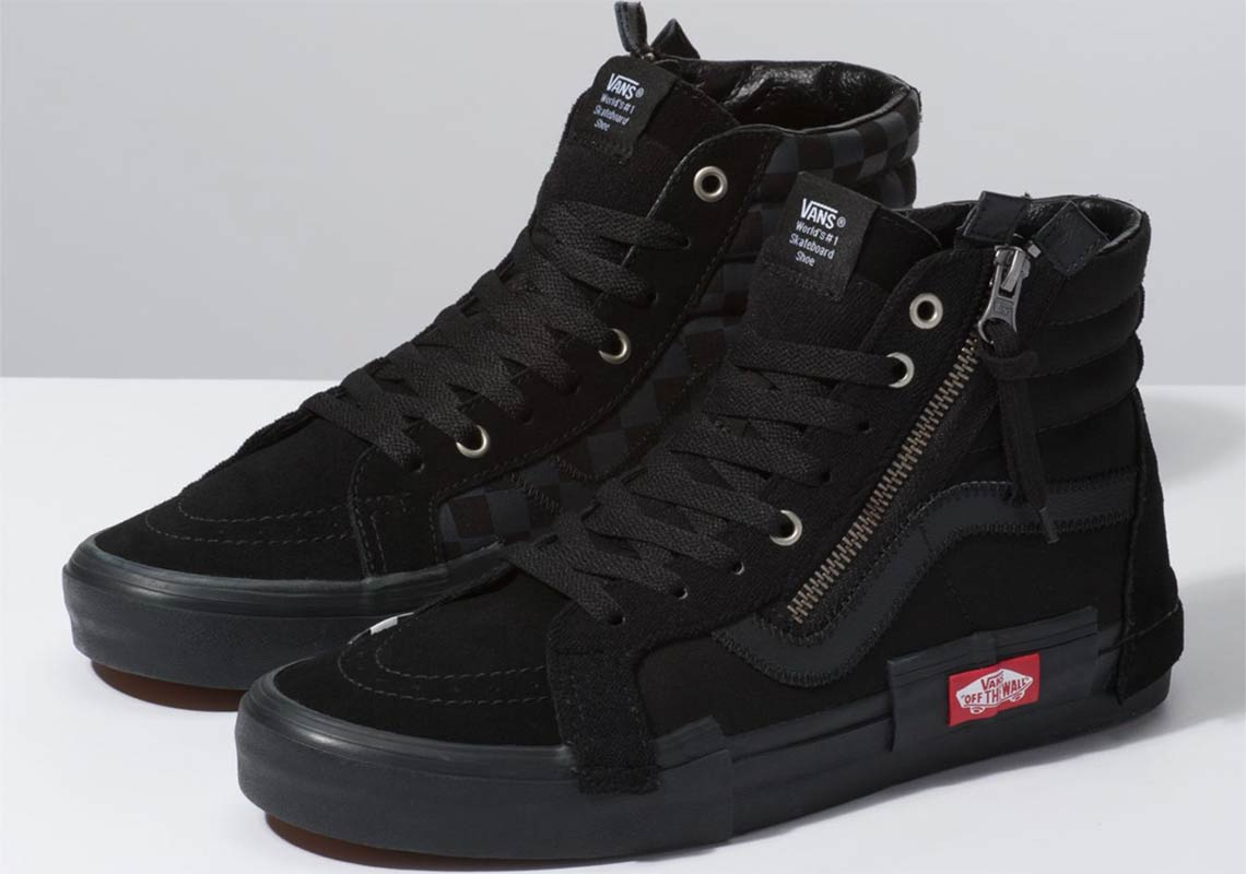 a55bb00d41 The Vans SK8 Hi Reissue Decon Cap Is Here In Black