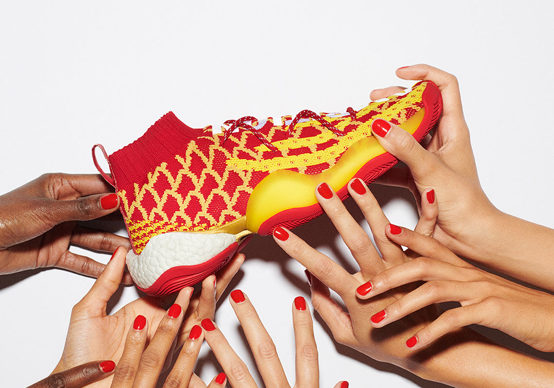 "meet 0a8ef 4b1ff Pharrell x adidas Crazy BYW ""Chinese New Year"" Release Date January 26th,  2019 250. Color ScarletBright Yellow Style Code E88688"