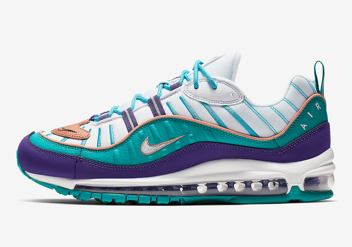 1e49d6e1568b Nike Air Max 98 Purple Teal 640744-500 Release Info