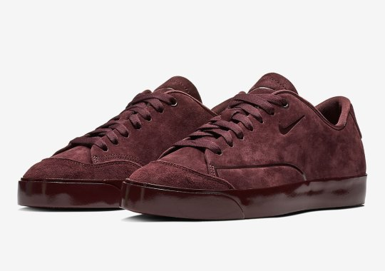 The Nike Blazer City Low For Women Arrives In Burgundy Suede