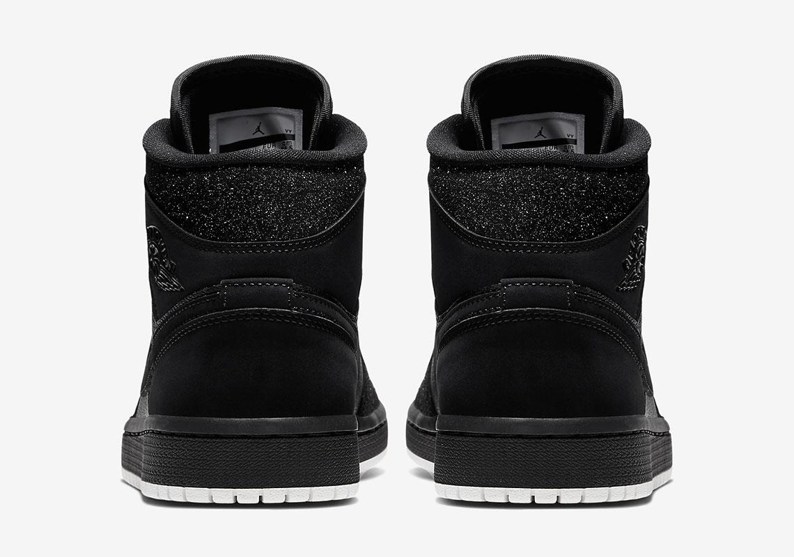 dee03c87d87f54 Jordan 1 Mid Glitter Black BQ6472-001 Release Info