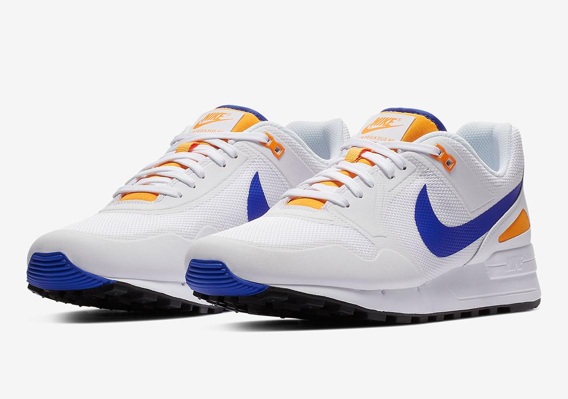 76f8444a0a64 Nike Pegasus 89 €110. Color  White Racer Blue-Orange Peel Style Code  CD1504 -100