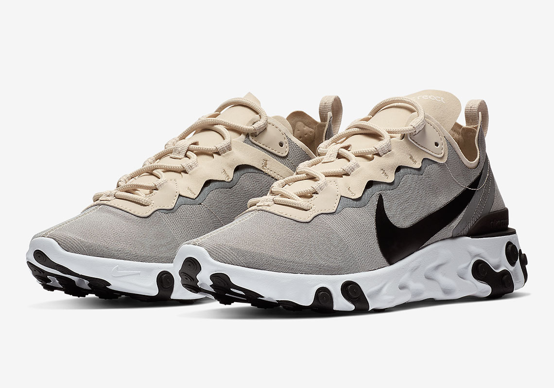 c72f55cfec88 The Nike React Element 55 Comes Dressed In Pure Tonal Refinement