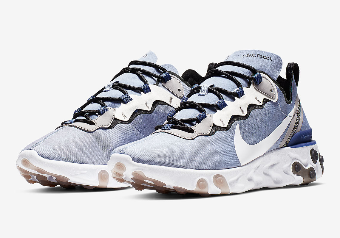 new product 4571b 8c373 The Nike React Element 55 Continues To Impress With New Light Blue Colorway