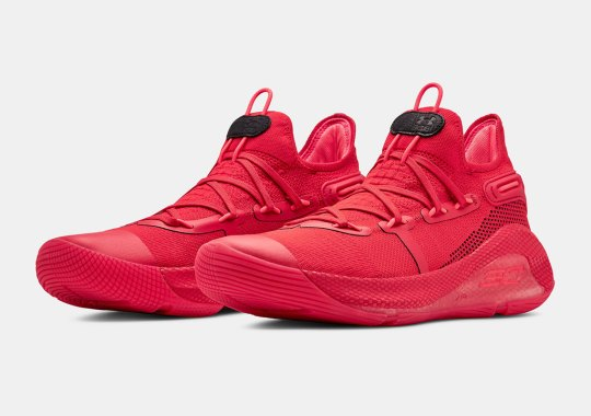 Under Armour's Curry 6 Arrives In A Bold Full Red