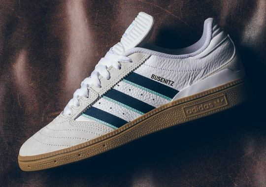5467e7903289f The adidas Busenitz Pro Arrives With Classic Navy Stripes