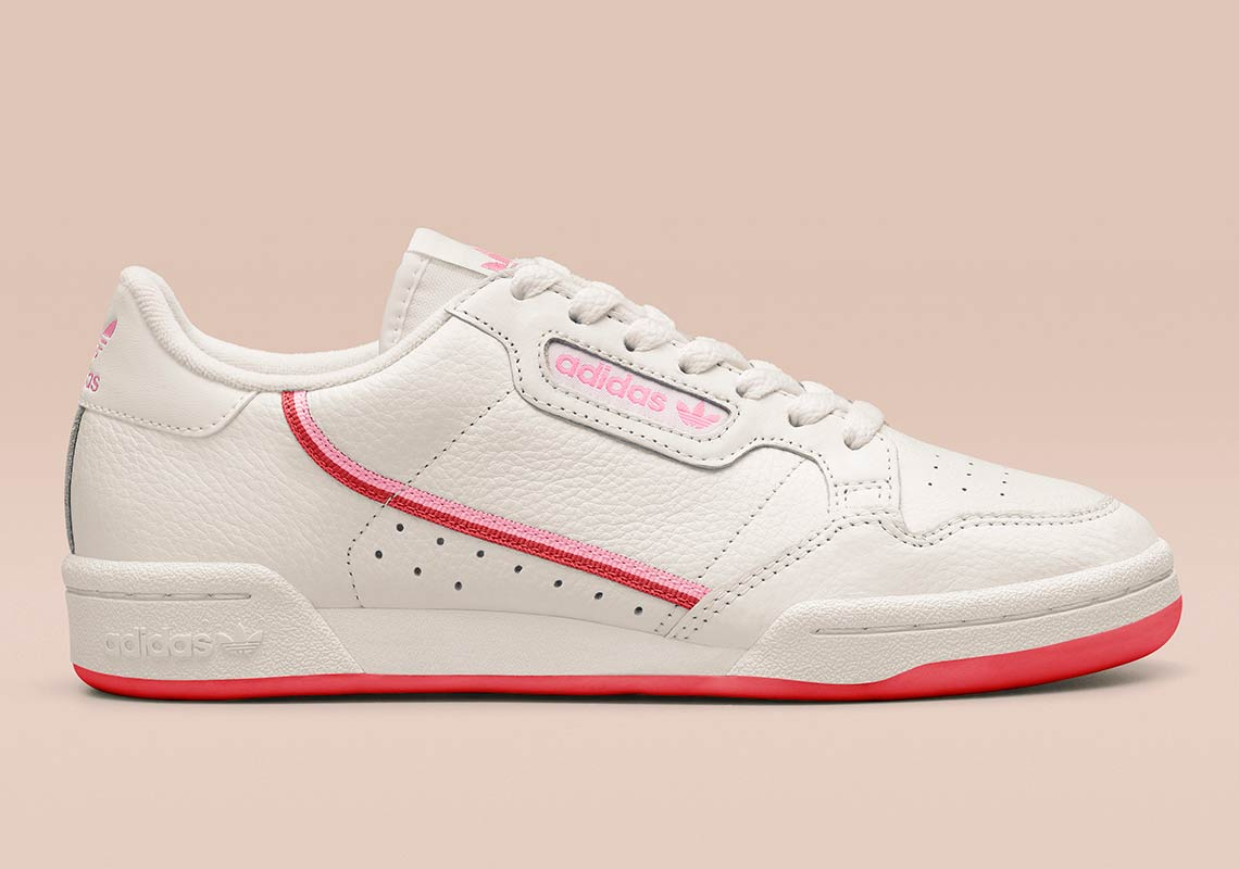 the best attitude e5761 65710 adidas Continental 80 Wmns Release Date February 1, 2019 80. Color Off  WhiteActive RedTrue Pink