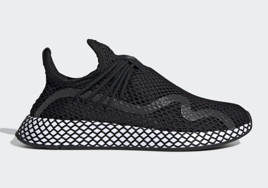 The adidas Deerupt S Appears In A Sleek Black/White Colorway