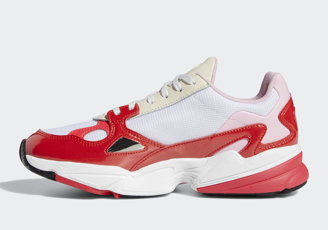adidas falcon shoes red